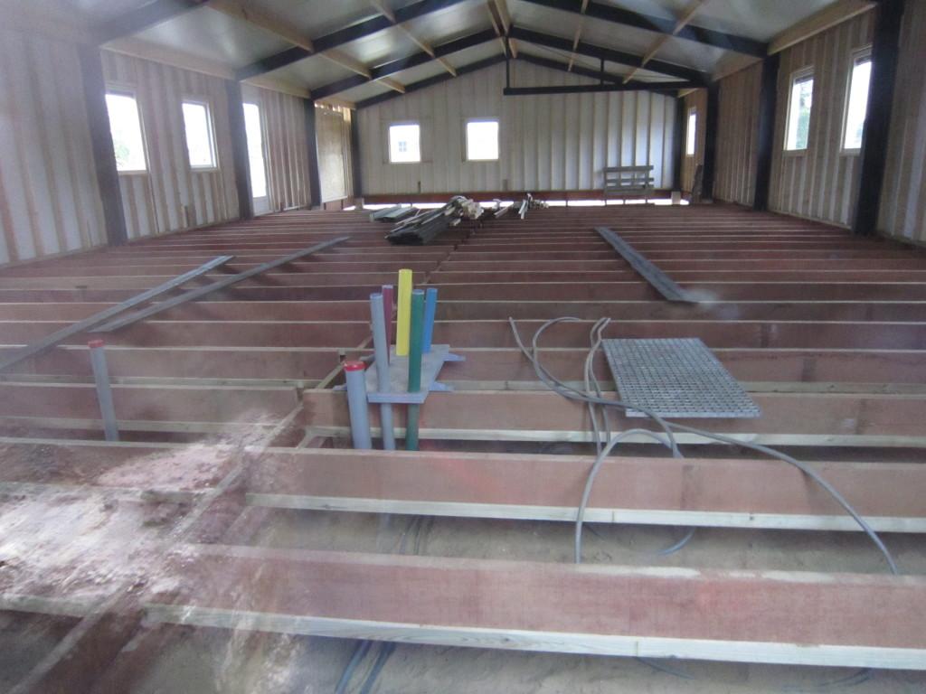Clubhuis in aanbouw.